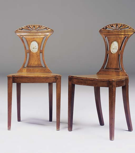 A PAIR OF LATE GEORGE III MAHO