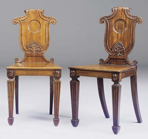 A MATCHED PAIR OF REGENCY MAHO