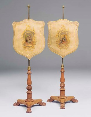 A PAIR OF EARLY VICTORIAN SATI