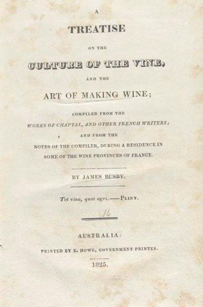 BUSBY, James (1801-1871). A Tr