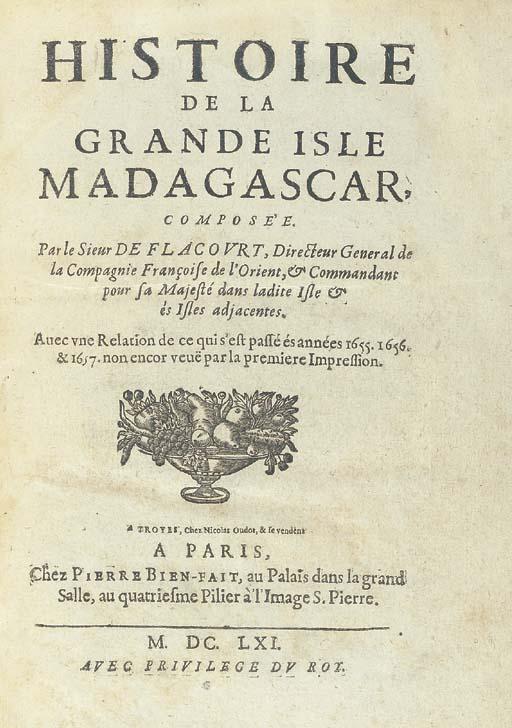 FLACOURT, Etienne de (1607-166