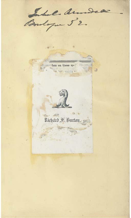 BURTON, Richard Francis. Goa,