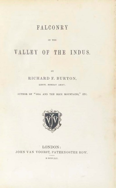 BURTON, Richard Francis. Falco