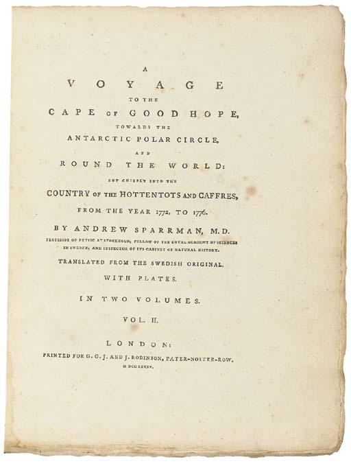 SPARRMAN, Anders (1747-1820).
