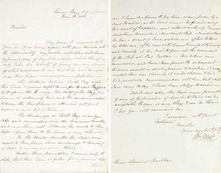 BLIGH, William (1754-1817). Au