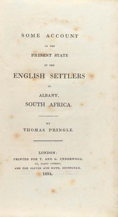PRINGLE, Thomas.  Some Account
