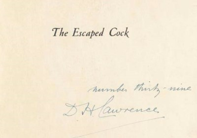 LAWRENCE, D.H. The Escaped Coc
