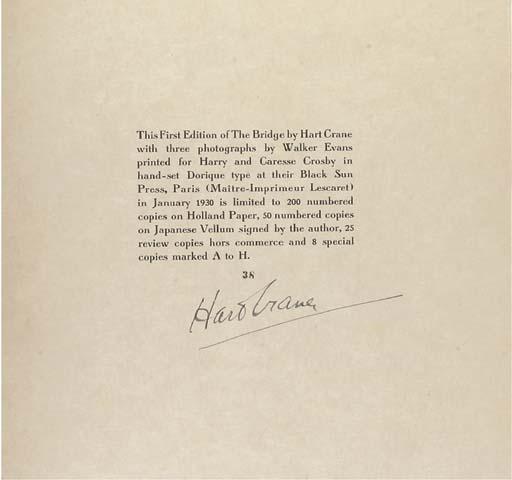 CRANE, Harold Hart (1899-1932)