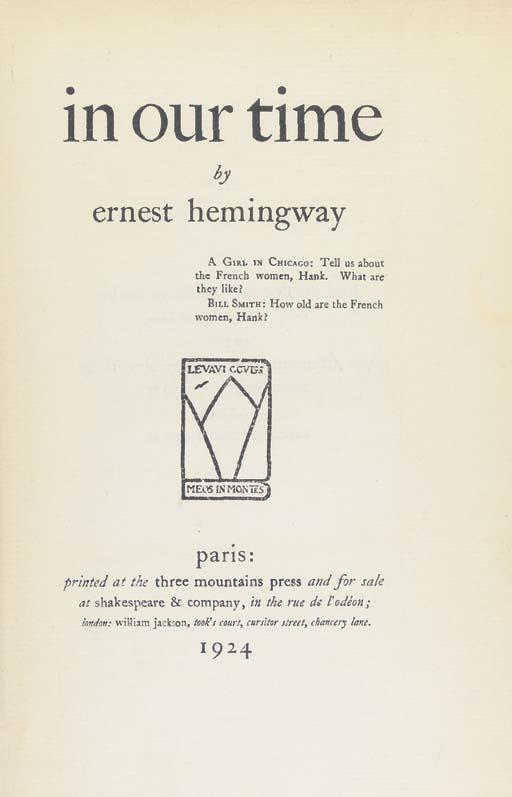 HEMINGWAY, Ernest Miller (1899