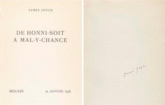 JOYCE, James. De Honni-Soit a