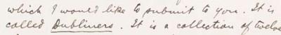 JOYCE, James. Autograph letter
