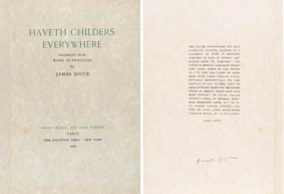 JOYCE, James. Haveth Childers
