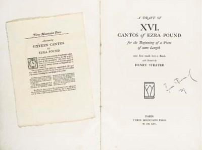 POUND, Ezra. A Draft of XVI Ca