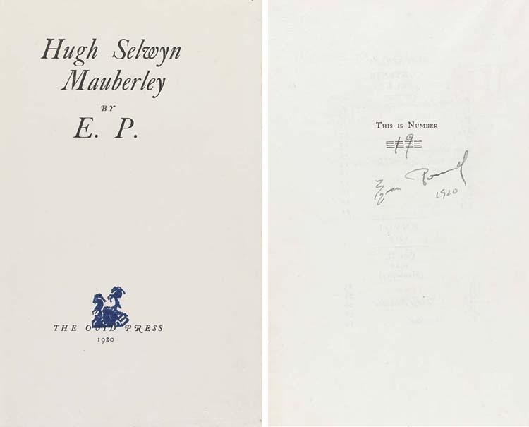 POUND, Ezra. Hugh Selwyn Maube