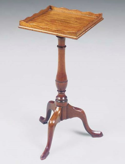 A MAHOGANY TRIPOD TABLE OF GEO
