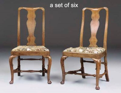 A SET OF SIX GEORGE I WALNUT S
