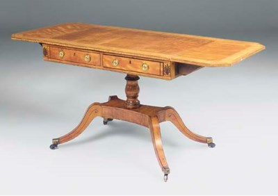 A LATE GEORGE III SATINWOOD SO