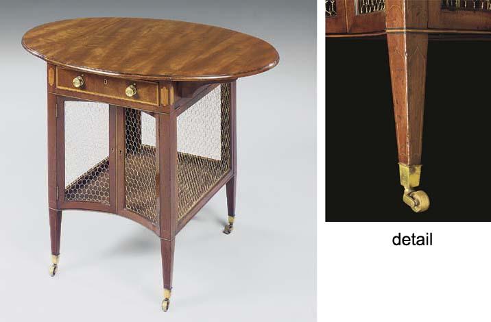 A GEORGE III MAHOGANY BREAKFAST-TABLE