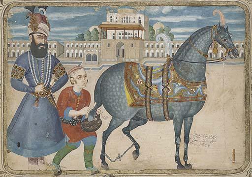 KARIM KHAN ZAND WITH HIS HORSE