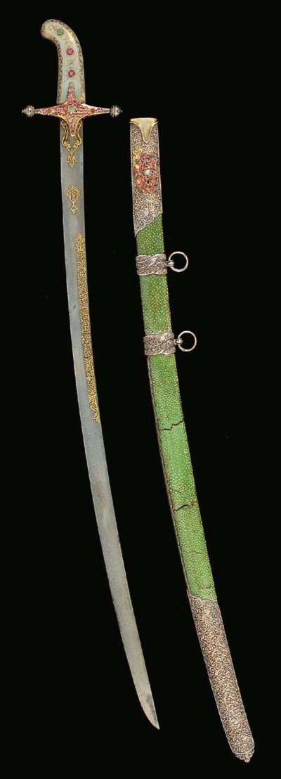 AN OTTOMAN JEWELLED SWORD