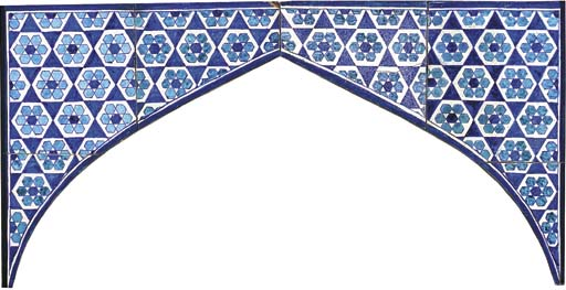 A SULTANATE POTTERY TILE ARCH