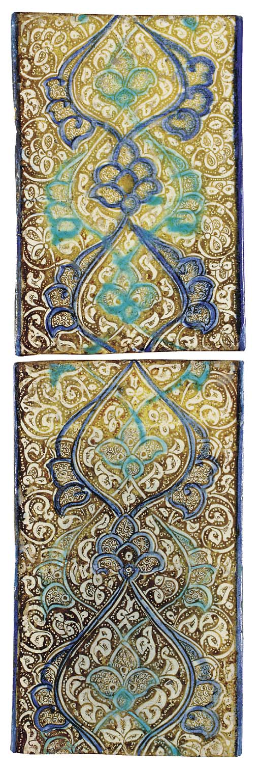 TWO KASHAN LUSTRE COBALT BLUE
