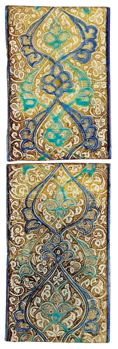 TWO KASHAN LUSTRE COBALT BLUE