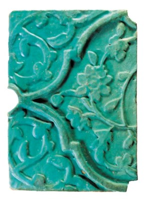 A TIMURID MOULDED TURQUOISE GL