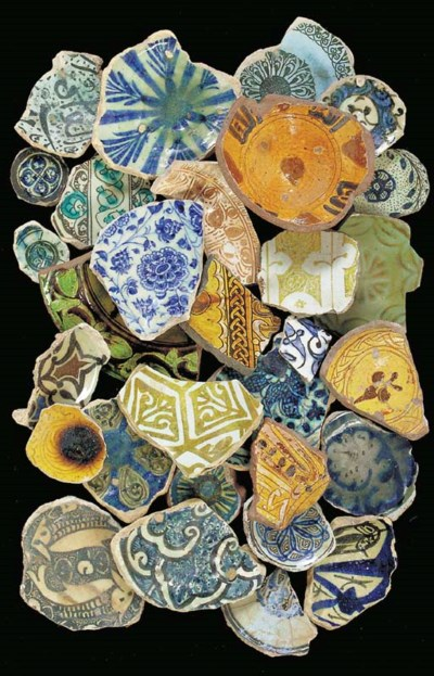 A COLLECTION OF POTTERY FRAGME