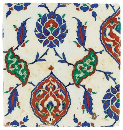 AN IZNIK POLYCHROME POTTERY TI