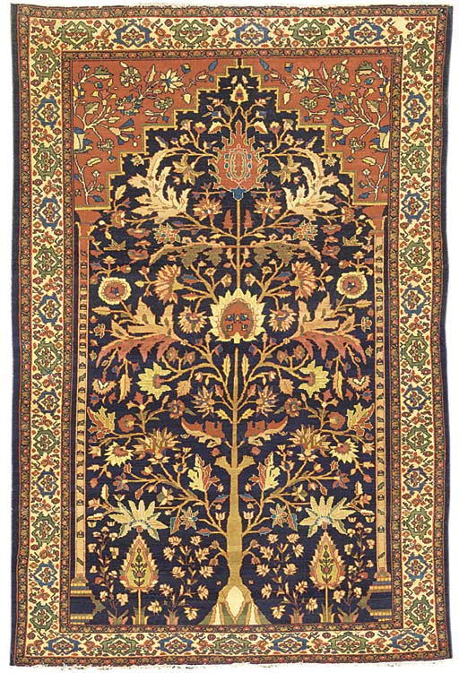 A SAROUK PRAYER RUG