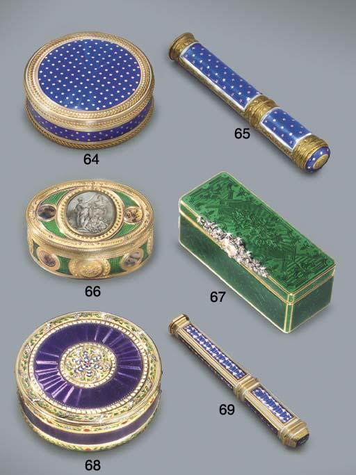 A LOUIS XVI ENAMELLED GOLD SEA