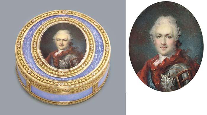 A FINE LOUIS XVI VARI-COLOUR G