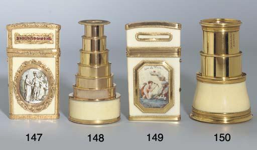 A LOUIS XVI GOLD-MOUNTED CARNE