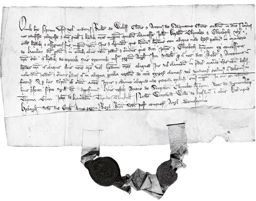 ENGLAND. Document of Robert de