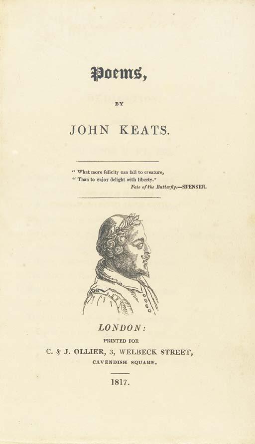KEATS, John (1795-1821). Poems