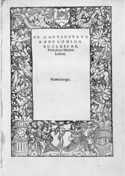LUTHER, Martin (1483-1546). De