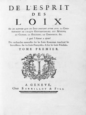 [MONTESQUIEU, Charles-Louis de