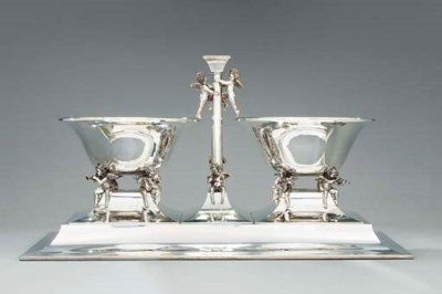 A silver-mounted mirror-platea