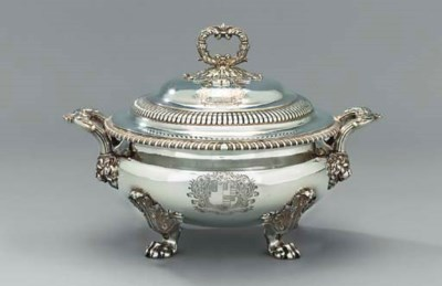 A George IV silver soup-tureen