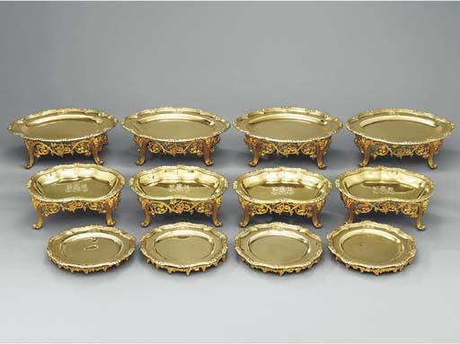 A George III silver-gilt dessert service