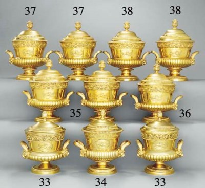 Two George III silver-gilt cup