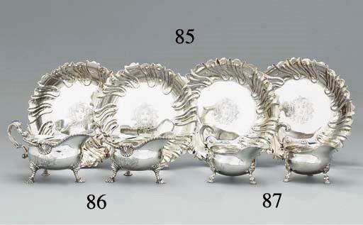 Four George II silver strawber