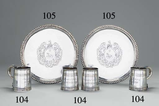A set of four Queen Anne silve