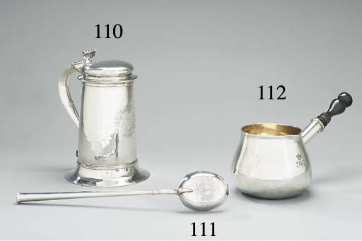 A William III silver brandy-sa
