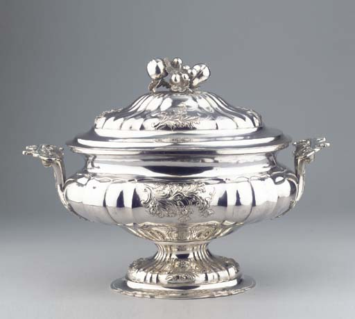 A Continental silver soup-ture