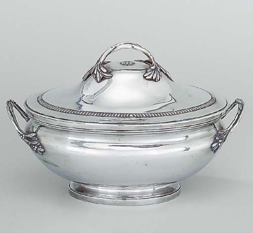 A French silver tureen