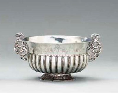 A Spanish Colonial silver bowl