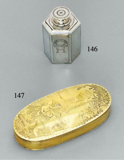 A German silver canister