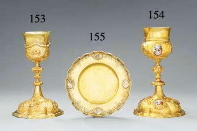 A GERMAN SILVER-GILT CHALICE